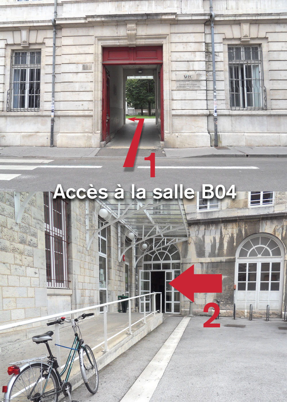 Accèes salle B04